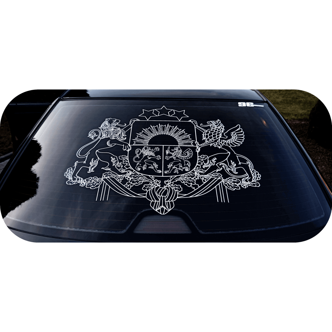Latvia, coat of arms, sticker, decal
