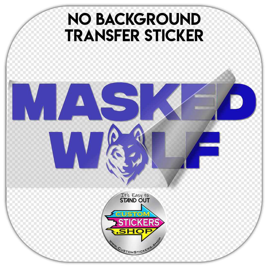 masked wolf, masked, wolf, custom, transfer, sticker, decal, personalized