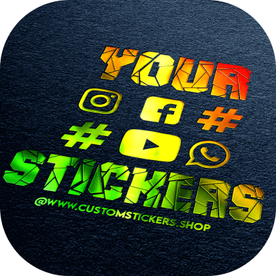 Your @Name Text Special Color Stickers