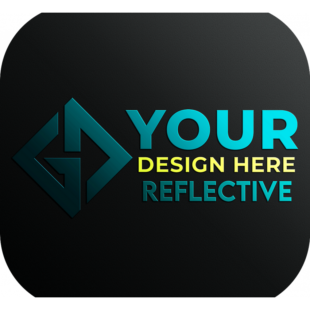 reflective, custom, text, name, your, logo, business, stickers, personalized, decal, sticker