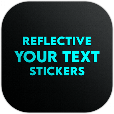 Your Custom Text Name Reflective Stickers