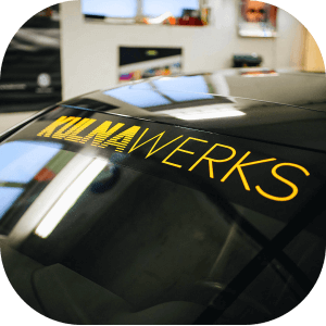 Windshield Two Color Sunstrip Banner